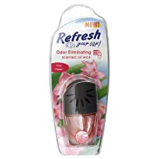 Refresh Your Car Scented Oil Wick, Odor Eliminating, Pink Petals 0.24 fl oz (7 ml)