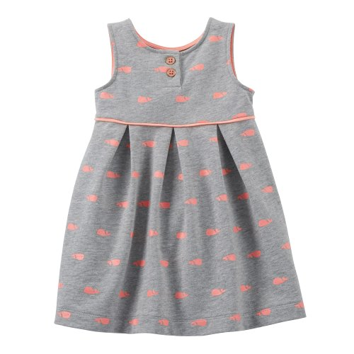 Carter'S French Terry Dress Set (3 Months, Grey/Whale) front-1040868