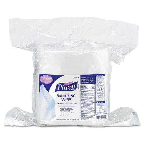 Purell Sanitizing Wipes, 6 X 8, White - Two Buckets Of 1,200 Wipes Each. front-993892