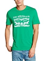 Levi's Camiseta Manga Corta Brand Graphic Snl G (Verde)