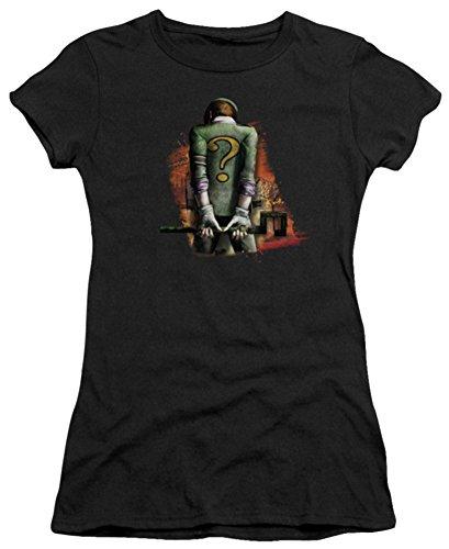Batman Arkham City Riddler Convicted Ladies Junior Fit T-Shirt