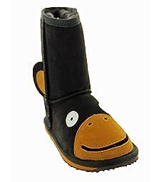 EMU Australia Little Creatures Monkey Boot (Toddler/Little Kid/Big Kid),Chocolate,8 M US Toddler
