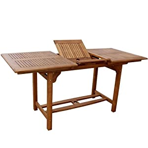 tavolo in legno massello da giardino estensibile cm 70x120