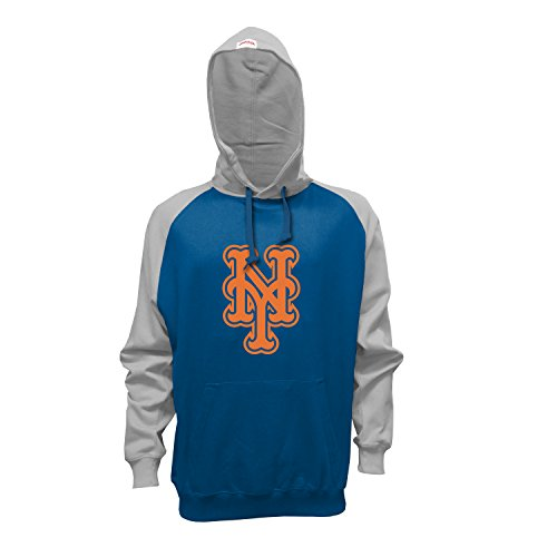 MLB New York Mets Men's Pullover Hoodie, Small, Royal/Gray (Adult Clothing compare prices)