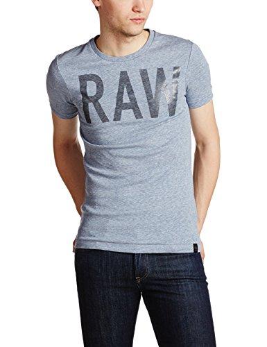 G-Star Raw Men's Lamrik Shortsleeve Crew Neck Tee Shirt, Dark Amann Heather, Medium