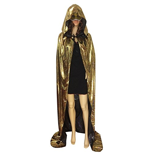 Weixinbuy Halloween Fancy Dress Costume Adult Hooded Long Cloak Cape