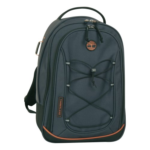 Timberland Luggage Claremont 17-Inch Backpack, Navy/Black/Burnt Orange, One Size