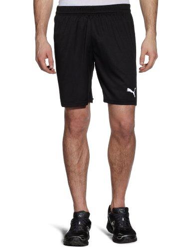 PUMA, Pantaloni corti, senza slip interni Uomo, Nero (Black-white), L