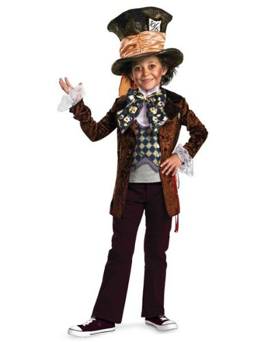 Boys Deluxe Disney Alice In Wonderland Movie Mad Hatter Costume Size Small