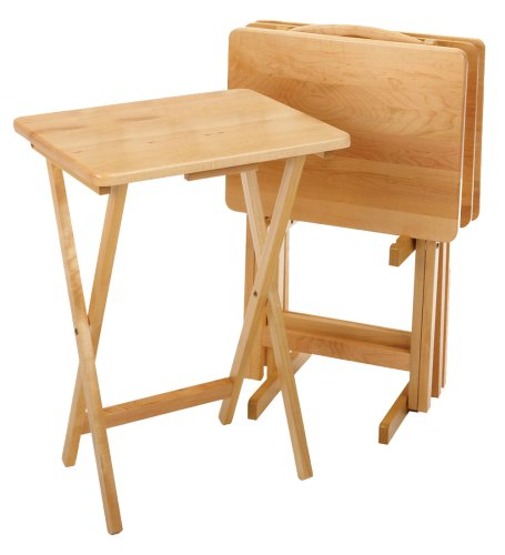 Winsome Wood 5-Piece TV Table Set, Natural