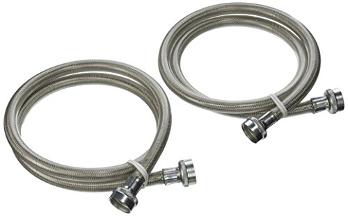 general electric pm14x10005 stainless steel washing machine hoses 4 foot 2 pack home garden. Black Bedroom Furniture Sets. Home Design Ideas