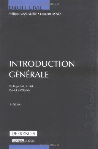 introduction générale (3e édition)