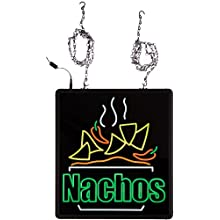 "Benchmark 92004 Ultra-Bright Sign, Nachos, 16"" Length x 17"" Width x 1-1/4"" Height"