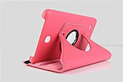 Best Deals-Premium Quality Leather Rotable Flip Stand Cover Case for Samsung Galaxy Tab4 8 inch T330/T331 PINK