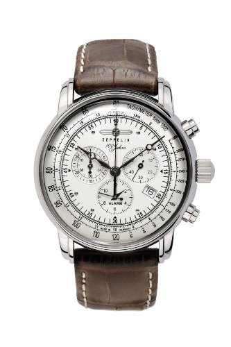 Zeppelin Men's Chronograph Watch 76801 With Alarm , Date Function And Tachymeter