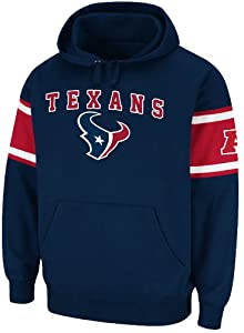 Houston Texans Mens Passing Game IV Fleece Hoodie Sweatshirt by Majestic by GametimeUSA