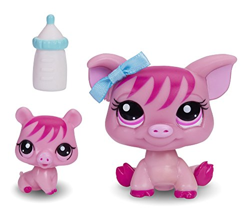 Littlest Pet Shop Figures Pig and Baby Pig - 1