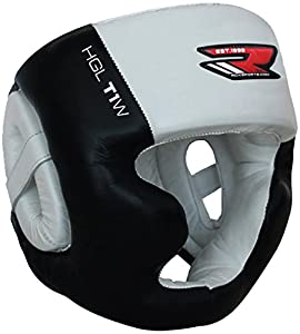 RDX Cow Hide Leather Boxing MMA Headgear UFC Head Guard Sparring Helmet Protector Fighting (CE Certified Approved by SATRA)