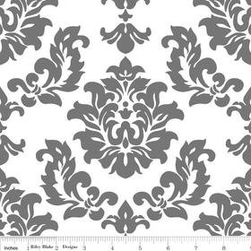 Mystique Damask Gray Yardage by Lila Tueller for Riley Blake Designs SKU# c3081-gray