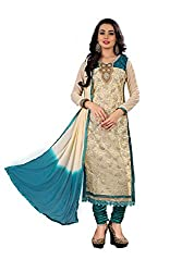 Shree Hans Creation Rama Blue Georgette Dress Material
