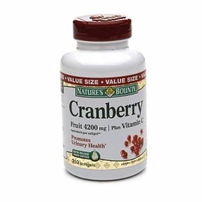 Nature's Bounty Cranberry Fruit 4200mg/ Plus Vitamin C, 500 Softgels Bounty-kuwr