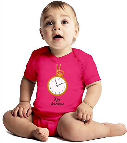 Alice In Wonderland Amazing Quality Baby Bodysuit by True Fans Apparel - Made From 100% Organic Cotton- Super Soft V-Neck Style - Unisex Design- Perfect As A Present 3-6 months
