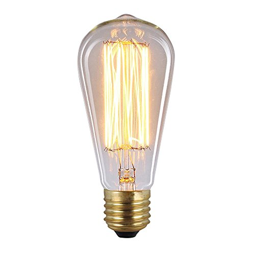 Dealighting 60 Watt Vintage Filament Bulb Long Life Edison Reproduction Light Bulbs 6 Pack Home