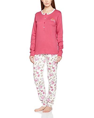 MUSLHER Pijama Señora Pantalon Estampado