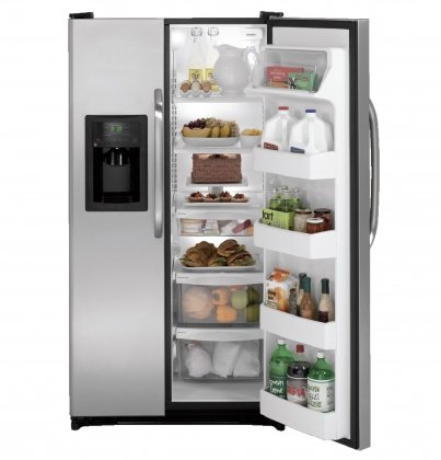 GE GSH22JSDSS 21.9 Cu. Ft. Stainless Steel Side-By-Side Refrigerator - Energy Star
