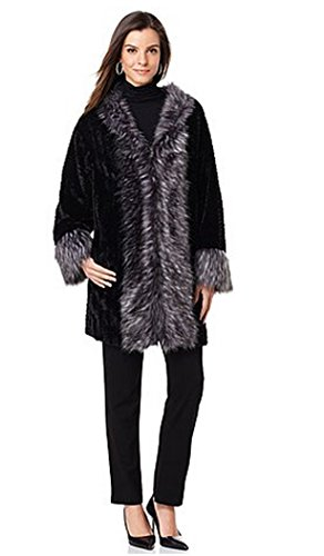 adrienne-landau-kimono-jacket-with-faux-fox-trim-black-chevron-silver-foxlarge