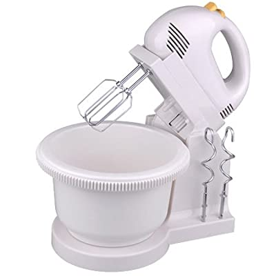 5 Speed with 2 Beaters Electric Kitchen Hand Stand Mixer by AV Prime Inc.