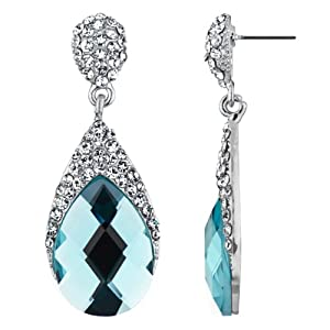 Real Housewives' Jewelry: Ramona's Fancy Faux Aqua Pear Drop Earrings