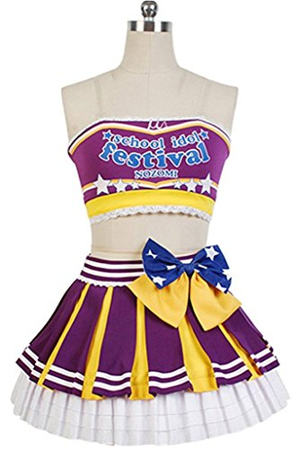 UU-Style LoveLive! Nozomi Tojo Cheerleaders Suit Outfit Uniform Cosplay Costume (Uniform Advantage Jacket compare prices)