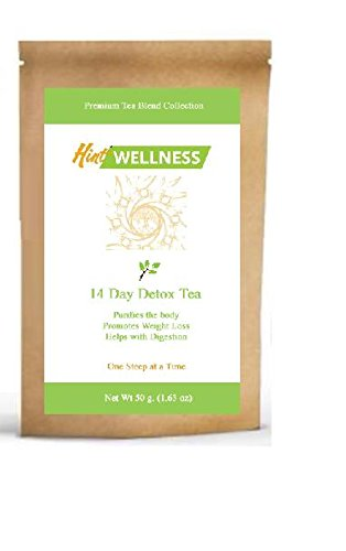 Hint Wellness - 14 Day Detox Tea - All Natural Weight Loss Tea - For Men & For Women - Herbal Loose Leaf Tea That Works Fast - Awesome Benefits - Use With Your Favorite Tea Infuser Or Steeper - 100% Satisfaction Guaranteed