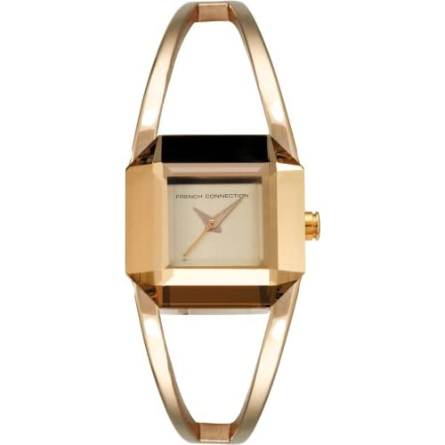 French-Connection-Stainless-Steel-Ladies-Gold-Plated-Bangle-Watch