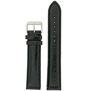 Extra Long Watch Band Leather Black Padded 20 millimeters Tech Swiss