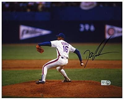 """Dwight Doc Gooden New York Mets Autographed 8"""" x 10"""" Horizontal Pitching Photograph - Fanatics Authentic Certified"""