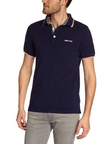Schott NYC - Polo, manica corta, uomo, Marine (Navy), M