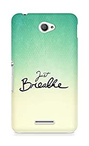 AMEZ just breathe Back Cover For Sony Xperia E4