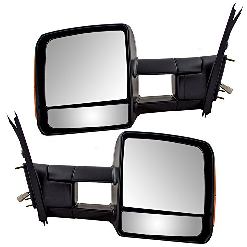 Driver and Passenger Power Tow Side View Mirror Heated Signal Manual Telescopic Replacement for Toyota Pickup Truck 879400C221 879100C221 (Tow Mirrors For Toyota Tundra compare prices)