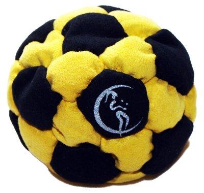 pro-footbag-aka-hacky-sack-freestyle-32-panneaux-noir-jaune-parfait-pour-les-stands-et-les-retards-i