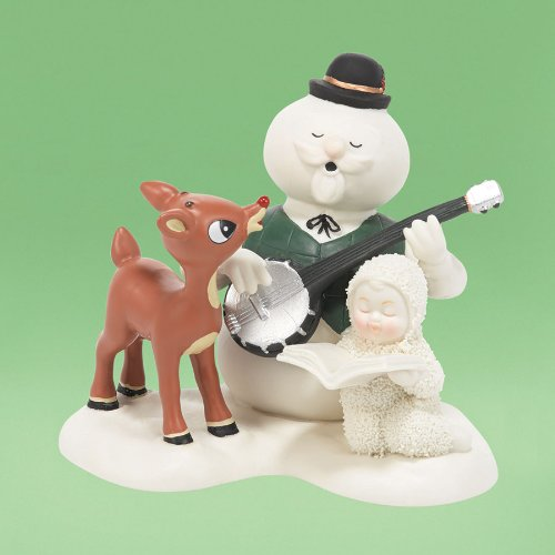 Snowbabies Guest Collection Singing Silver and Gold Figurine