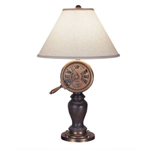 Captain's Telegraph Table Lamp by Passport Accent Furniture (Brown) (32