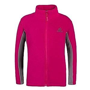 Tectop - Sweater-shirt enfants Polaire Zipper Veste manches longues Unisexe Hiver - 11-12ans - Rose rouge