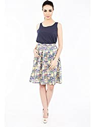 Magali Abstract Print Skirt