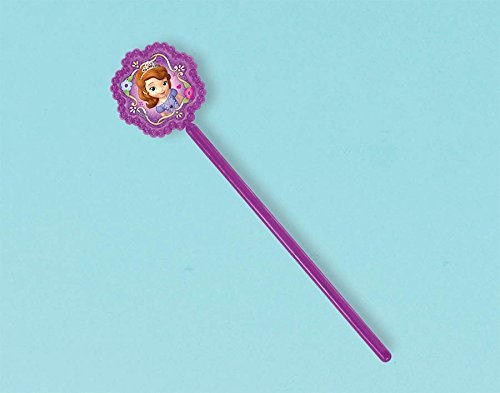 "Amscan Sofia the First Wand Disney Party Favors, Violet, 6 5/8"" x 1 5/8"" - 1"