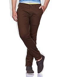 GHPC Men's Slim Fit Self Design Cotton Trouser
