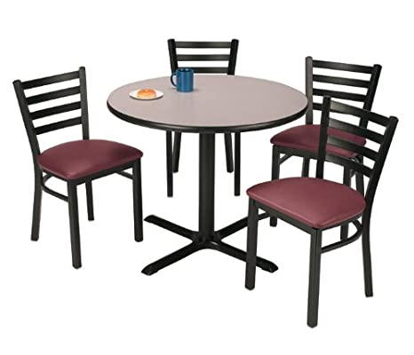 Round Table and Four Dining Chairs