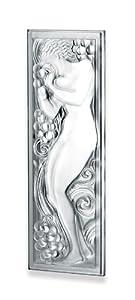 Lalique Figure Et Raisins Panel, 17.72in.