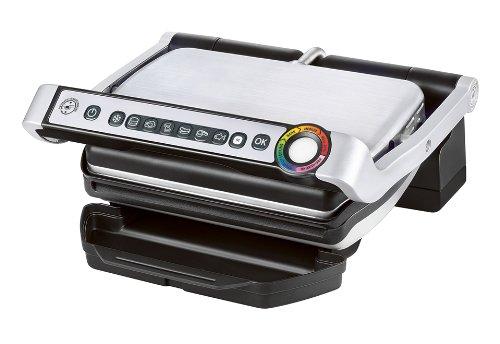 Best Prices! T-fal GC702D53 OptiGrill Stainless Steel Indoor Electric Grill, 1800-watt,